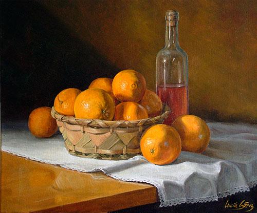 Cesta de naranjas