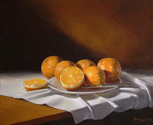 Plato de naranjas