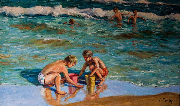 Marina - Niños jugando en la playa - ©Lucía Gómez Serra