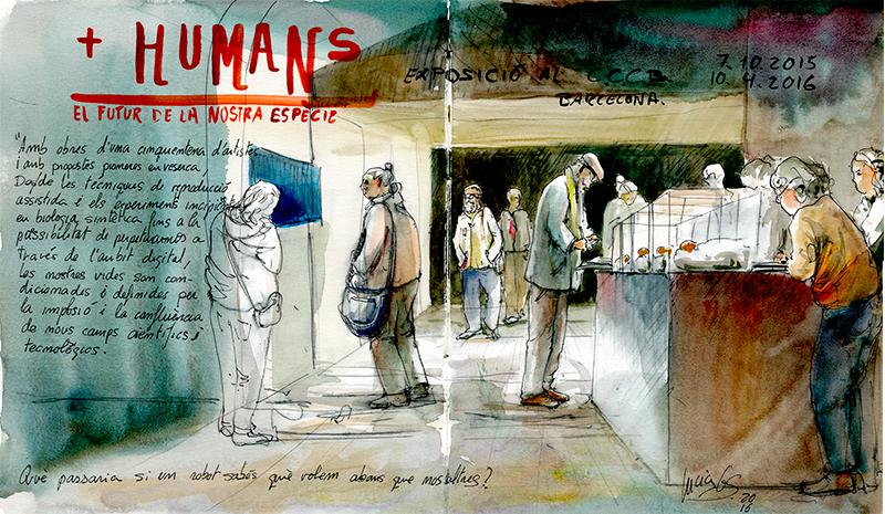 Urban sketching: Exposición CCCB. © Lucía Gómez Serra