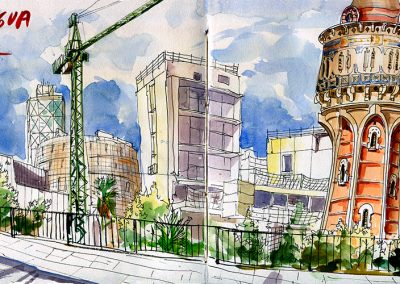 Torre del agua, Barcelona