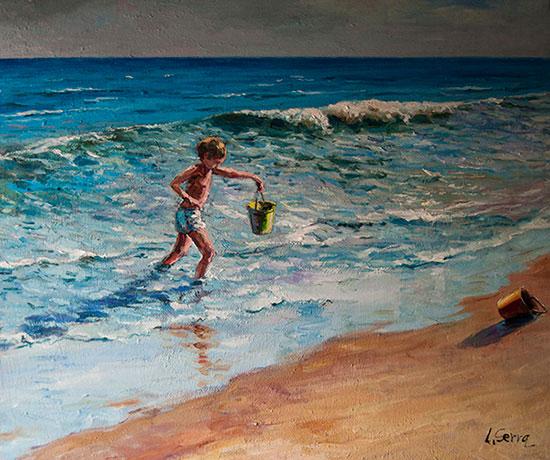 Marina - Niño en la playa - ©Lucía Gómez Serra