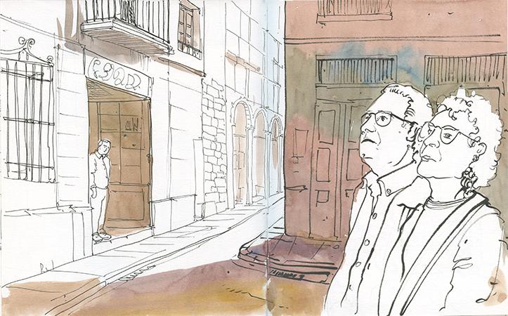 Por la calle -Urban sketching @ Lucía Gómez Serra