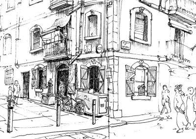 La Barceloneta -Urban sketching @ Lucía Gómez Serra