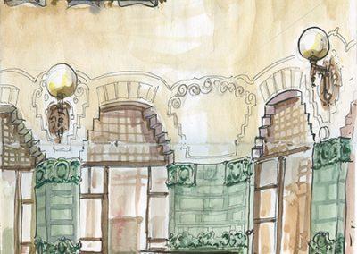 Conservatorio de música, Barcelona - Urban sketching @ Lucía Gómez Serra