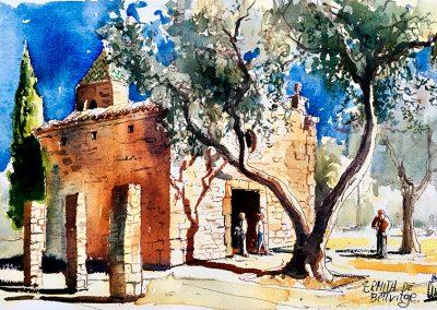 Ermita de Bellvitge - Urban sketching @ Lucía Gómez Serra