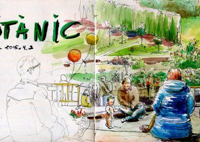 Jardí Botànic - Urban sketching @ Lucía Gómez Serra