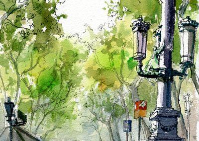 Las Ramblas de Barcelona - Urban sketching @ Lucía Gómez Serra