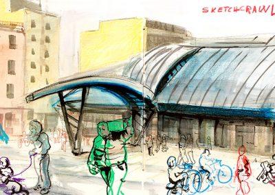 Mercat de La Barceloneta - Urban sketching @ Lucía Gómez Serra