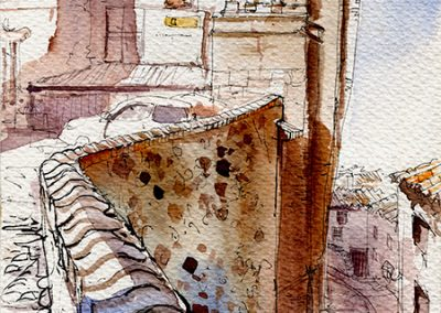 Palacio Episcopal, Tarazona - Urban sketching @ Lucía Gómez Serra