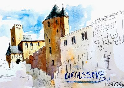 Carcassonne - Urban sketching @ Lucía Gómez Serra