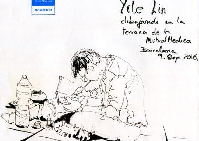Sketcher dibujando - Urban sketching @ Lucía Gómez Serra