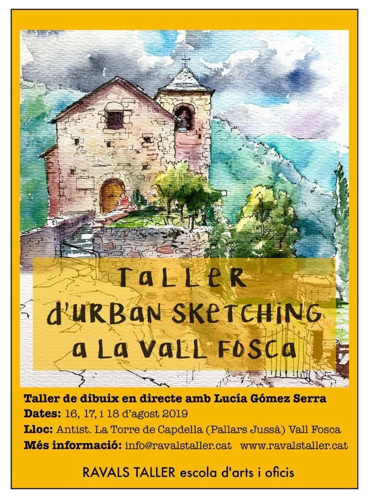 Taller d'Urban Sketching a la Vall Fosca