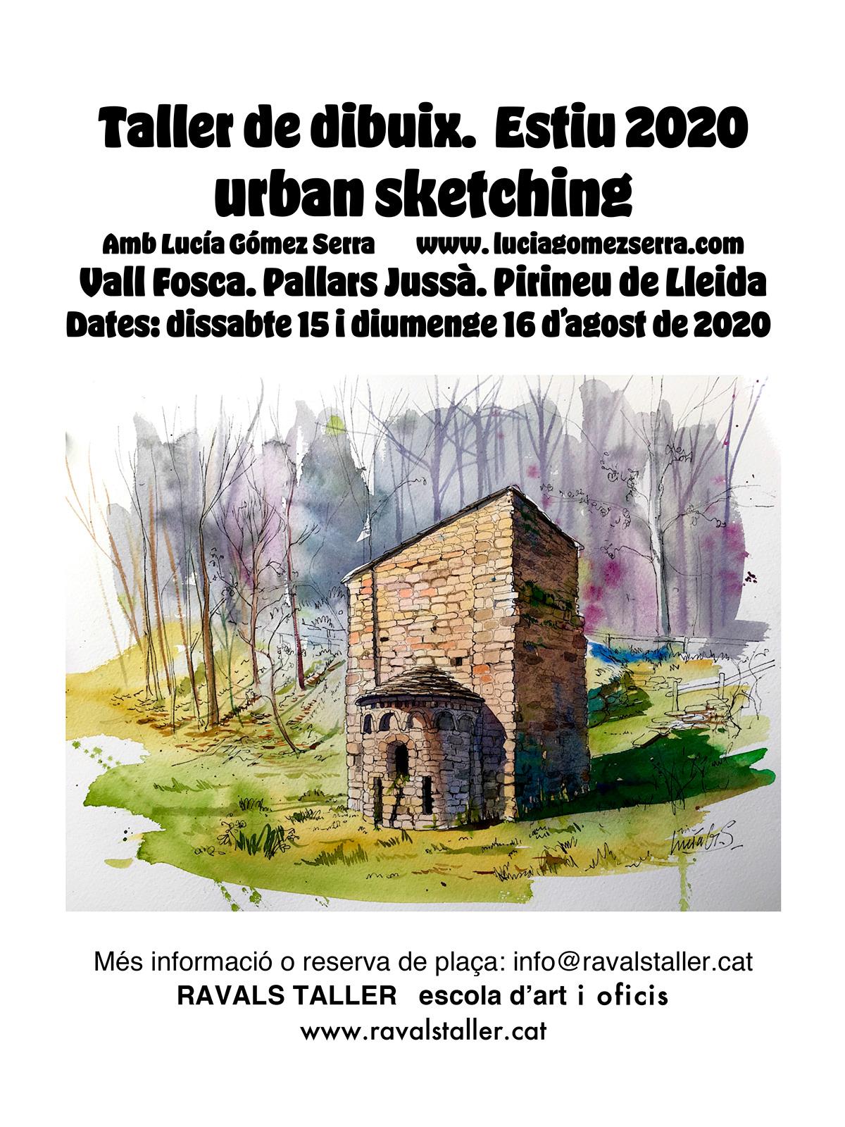 Taller de dibuix. Urban Sketching. Estiu 2020. Vall Fosca